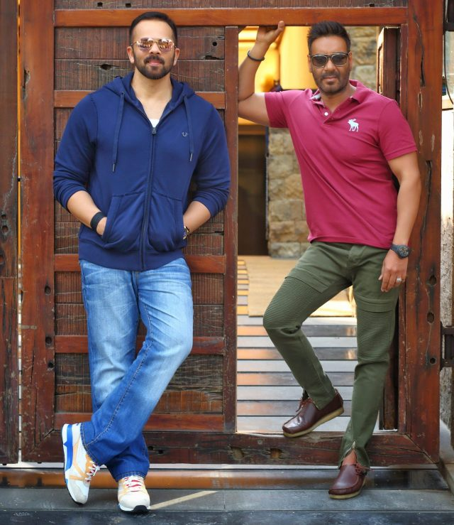 Rohit Shetty and Ajay Devgn