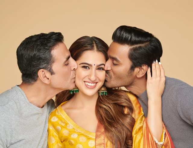 Dhanush, Sara Ali Khan and Akshay Kumar in Aanand L Rai's Atrangi Re