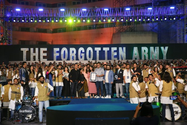 Amazon Prime Video Creates A Guinness World Record With The Live Performance Of The Forgotten Army – Azaadi Ke Liye Music Album
