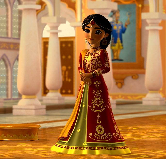 MIRA, ROYAL DETECTIVE - Set in the magical Indian-inspired land of Jalpur, the series follows the brave and resourceful Mira, a commoner who is appointed to the role of royal detective by the queen and travels throughout her kingdom to help royals and commoners alike. (Disney Junior) QUEEN SHANTI