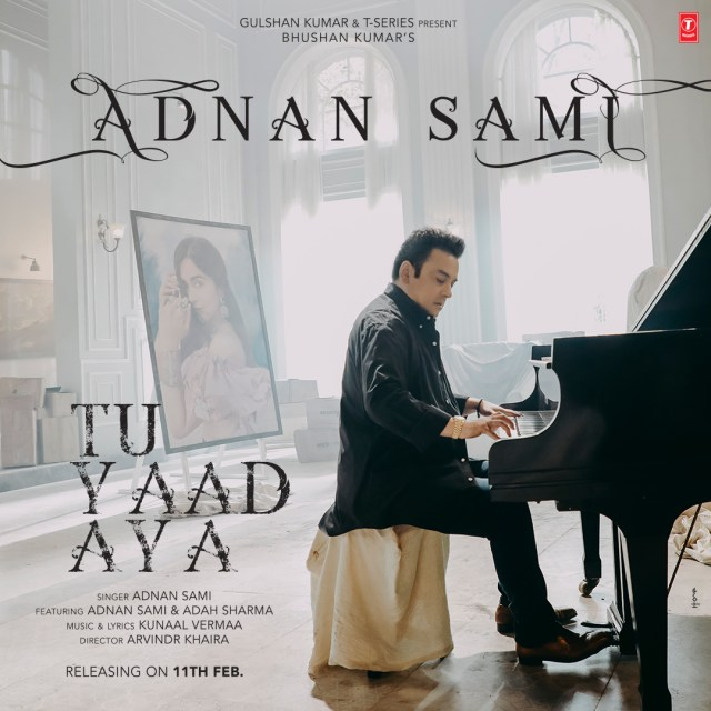 Adnan Sami on the poster of Tu Yaad Aya