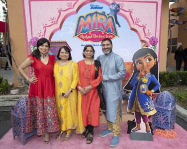 """MIRA, ROYAL DETECTIVE - Disney Junior hosted the world premiere of upcoming animated series """"Mira, Royal Detective"""" at The Walt Disney Studios in Burbank, CA on Saturday, March 7. Cast members including Freida Pinto, Utkarsh Ambudkar and Leela Ladnier were joined by special guests and their families. Debuting March 20, 2020 in the U.S. and India, the series is set in the magical Indian-inspired land of Jalpur and follows the brave and resourceful Mira, a young girl who is appointed to the role of royal detective by the Queen. (Disney Junior/Image Group LA) SONAL SHAH, PARVESH CHEENA"""