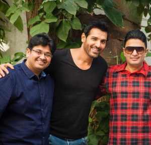 Bhushan Kumar, Milap Zaveri and John Abraham