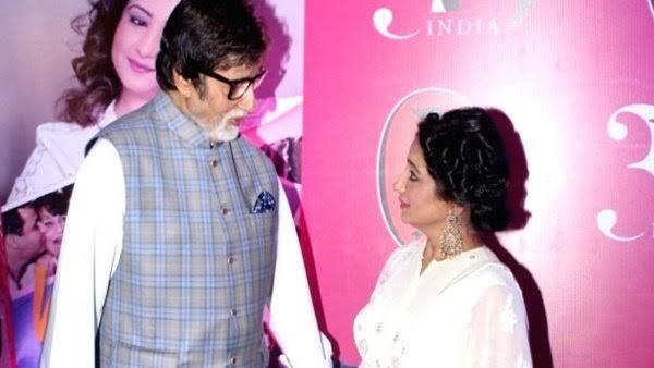 Amitabh Bachchan and Divya Dutta