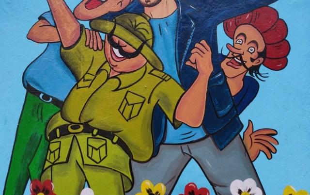 Mural by fan club