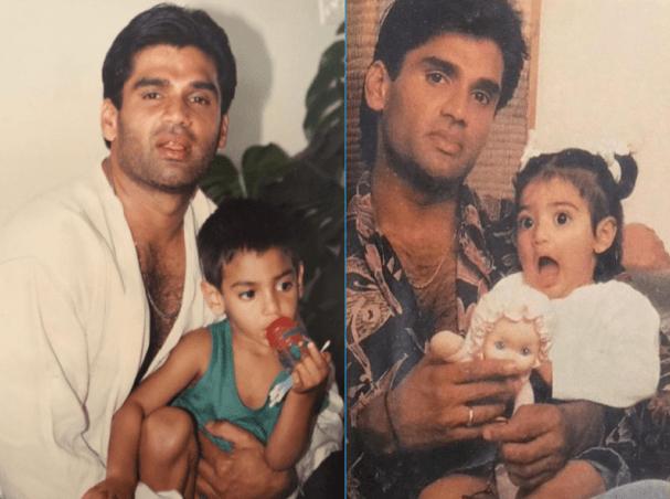Suniel Shetty With Kids