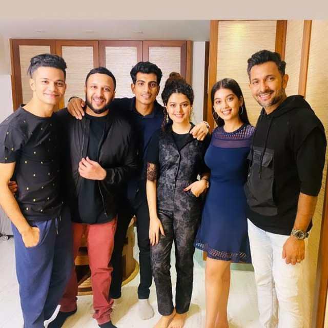 Saurabh Prajapati with the team of Tu Hai Toh