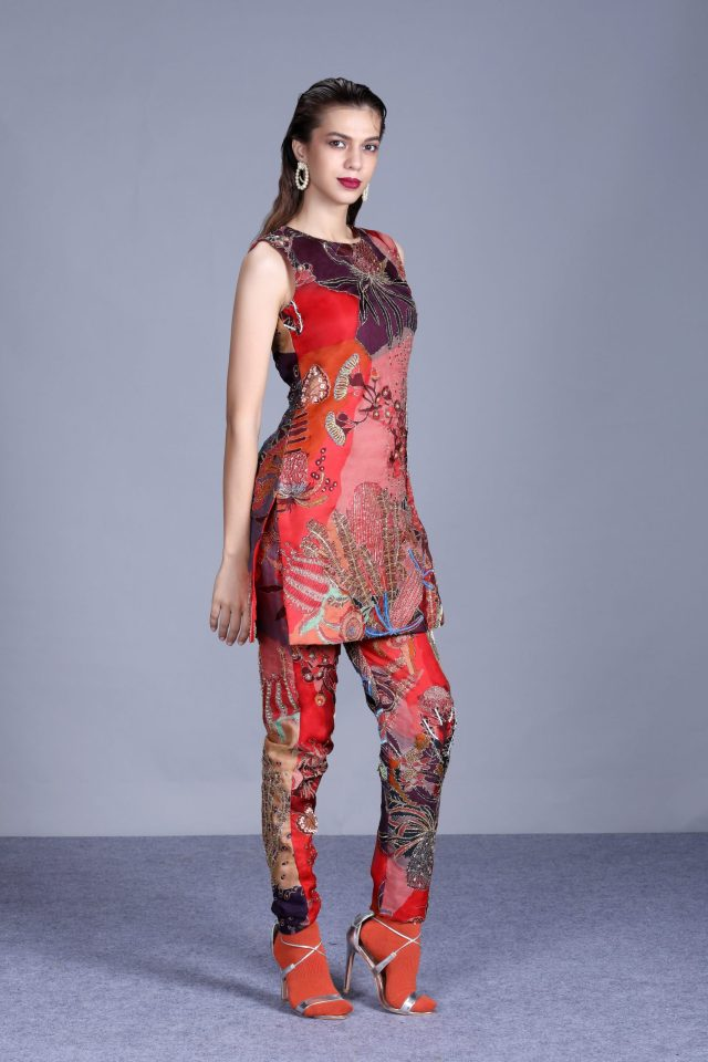Aisha Rao's artistic Australian inspired line at the first digital Lakmé fashion week