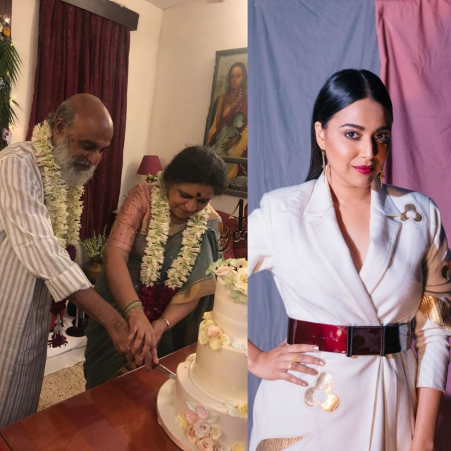 Swara Bhasker celebrates parents' 35th wedding anniversary with a surprise musical night