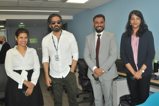 Actor Sunil Shetty visits Ireland House to mark the commencement of services