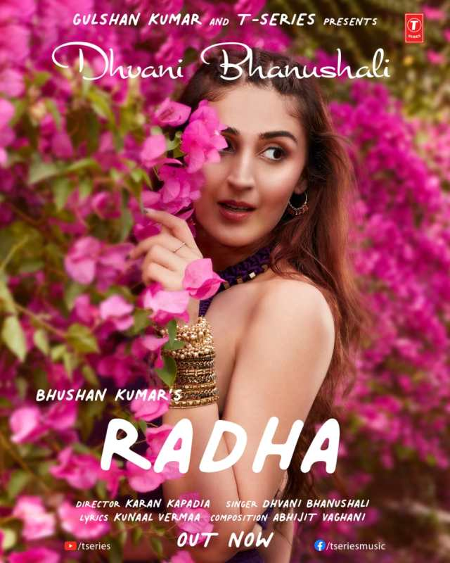 Dhvani Bhanushali brings a visual extravaganza with Radha, a soulful rendition of love, by Bhushan Kumar's T-Series