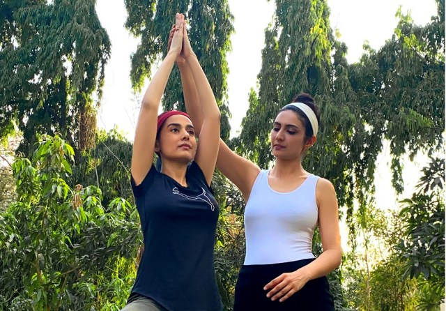Amrita Rao resumes her Yoga routine for fitness, post delivery