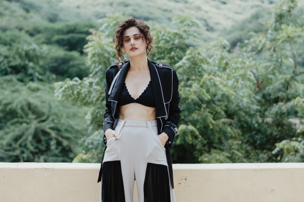 Taapsee Pannu embraces sustainable fashion for her Telugu film, Mishan Impossible