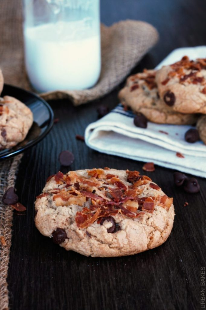 Browned Butter Bacon-Chocolate Chip Cookies | urbanbakes.com