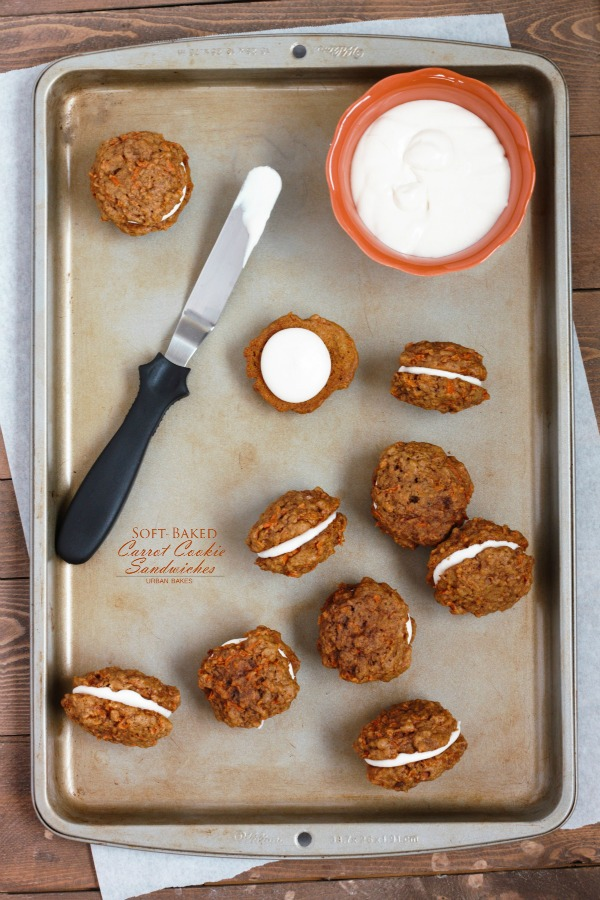 Soft - Baked Carrot Cookie Sandwiches - urbanbakes.com