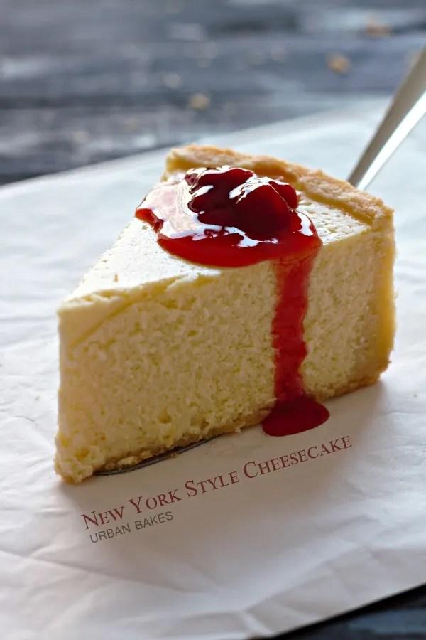 URBAN BAKES - New York Style Cheesecake