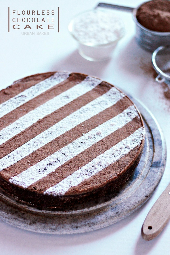 Flourless Chocolate Cake | URBAN BAKES