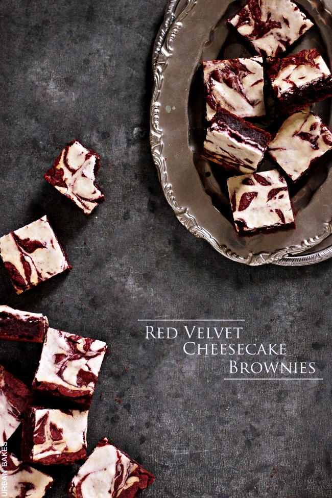Red Velvet Cheesecake Brownies | URBAN BAKES