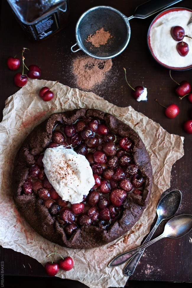 Bourbon Cherry Chocolate Galette | URBAN BAKES