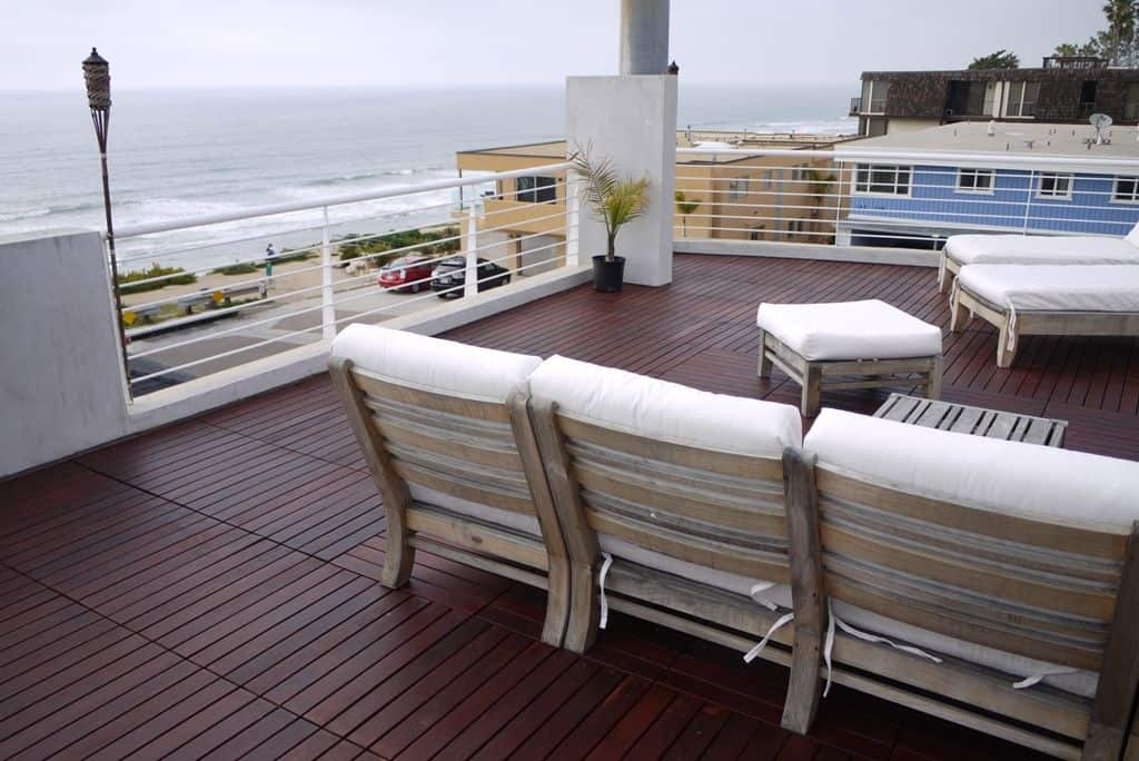 Deck with our balcony flooring in Toronto