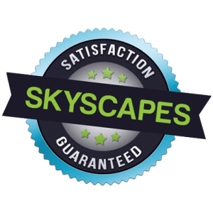 skyscapes satisfaction guaranteed badge
