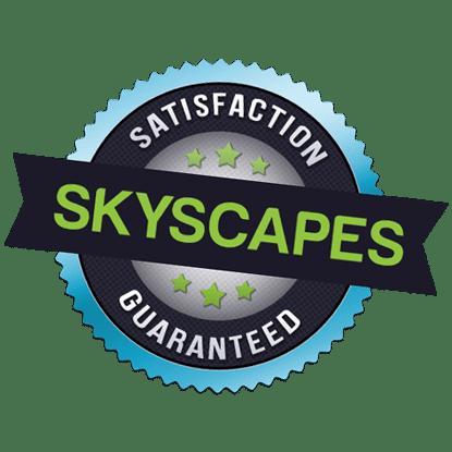 skyscapes satisfaction guaranteed badge