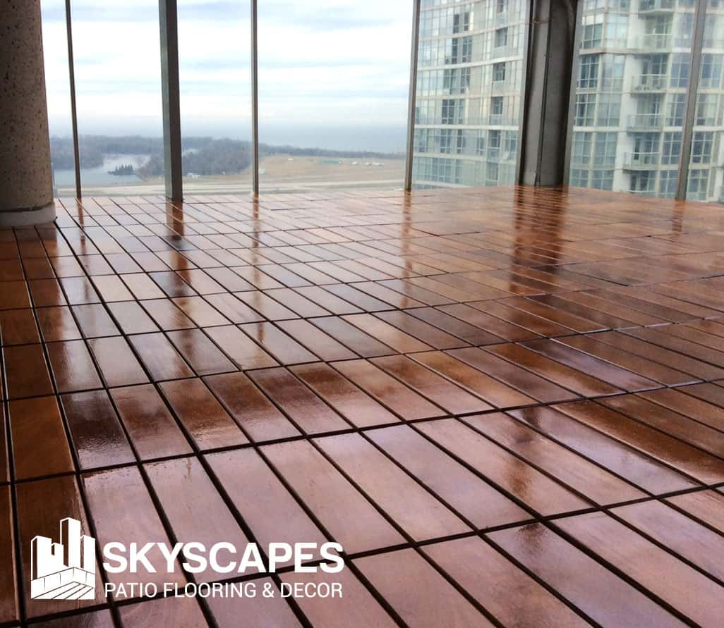 Outdoor flooring wood tiles Toronto