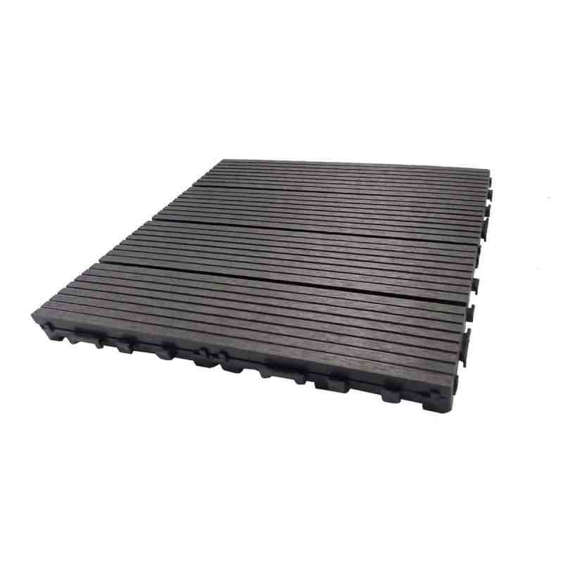 1 by 1 foot charcoal Dura composite deck tile