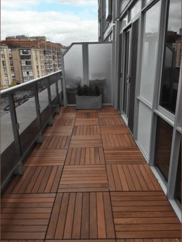 balcony wood paver