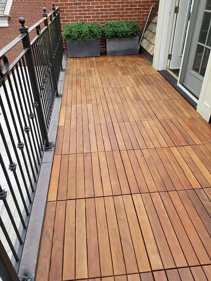 Ipe Hardwood Pavers for Outdoor Flooring Installation