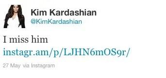 kim kanye tweet