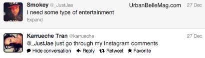 karrueche on rihanna fans nasty comments on instagram