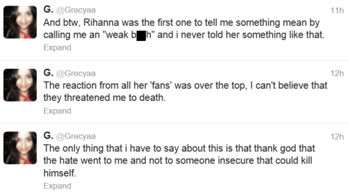 rihanna fans death threat