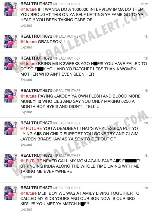 Future Beefs with His Baby Mama on Twitter, While Ciara Stays Quiet