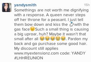 Yandy Smith Explains Why She's Classy on LHH, Slams Rashidah