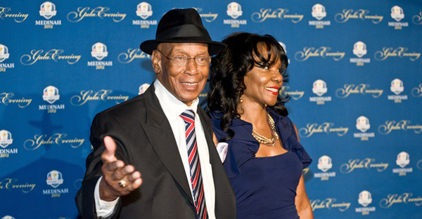 Ernie Banks attends the 39th Ryder Cup gala at Akoo Theatre at Rosemont on September 26, 2012 in Rosemont, Illinois. (Timothy Hiatt/Getty Images North America)