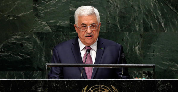 Palestinian President Mahmoud Abbas addresses the 69th session of the United Nations General Assembly at UN headquarters, Sept. 26, 2014. (Richard Drew/AP/File)