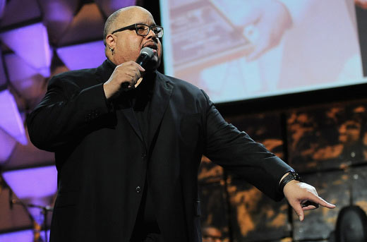 Singer Fred Hammond performs at the 16th Annual Super Bowl Gospel Celebration at ASU Gammage on January 30, 2015 in Tempe, Arizona. (Photo by Marcus Ingram/Getty Images for Super Bowl Gospel)