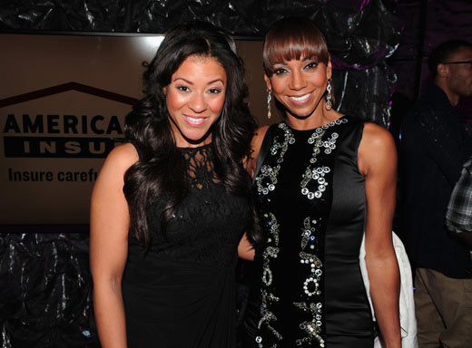 Latoya Fields (L) and host Holly Robinson Peete attend the 16th Annual Super Bowl Gospel Celebration at ASU Gammage on January 30, 2015 in Tempe, Arizona. (Photo by Marcus Ingram/Getty Images for Super Bowl Gospel)