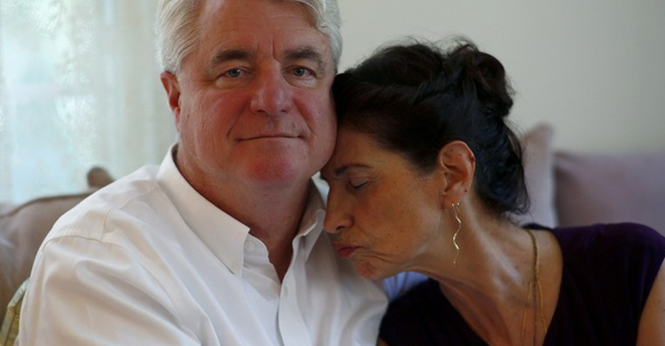 Diane and John Foley, parents of journalilst James Foley, sit for a portrait at their home during an interview August 24, 2014, in Rochester, New Hampshire. (DOMINICK REUTER/AFP/Getty Images)