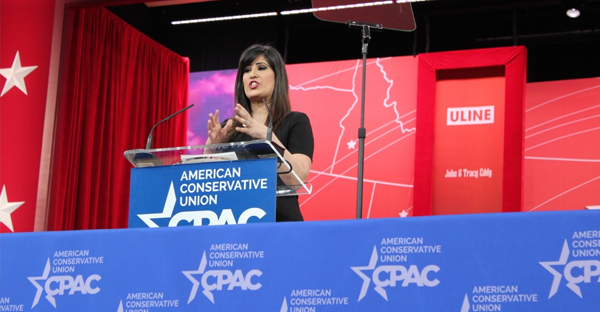Naghmeh Abedini, wife of Saeed Abedini, an American pastor imprisoned in Iran, speaks at the Conservative Political Action Conference, National Harbor, Maryland, Feb. 28, 2015. (PHOTO: THE CHRISTIAN POST)