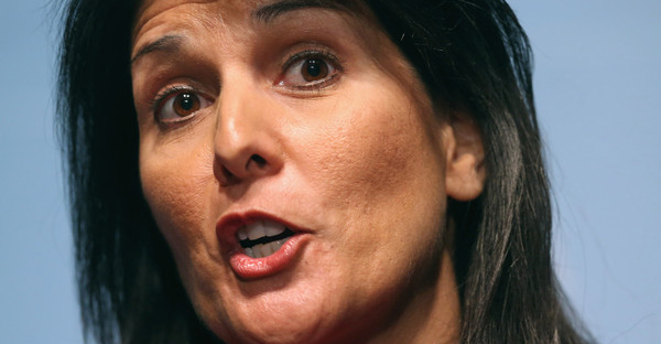 South Carolina Governor Nikki Haley holds a news conference with fellow members of the Republican Governors Association at the U.S. Chamber of Commerce February 23, 2015 in Washington, DC. (Chip Somodevilla/Getty Images North America