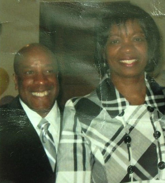 Augustus Sealy, 54, the pastor of the Hartford First Church of Nazarene, is pictured on the left alongside his wife. (WFSB)