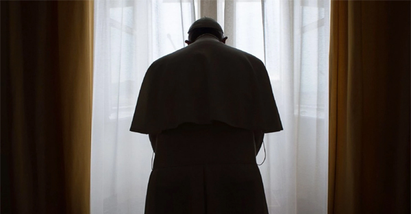 Pope Francis stands in his private apartment in January. (Osservatore Romano via Reuters)