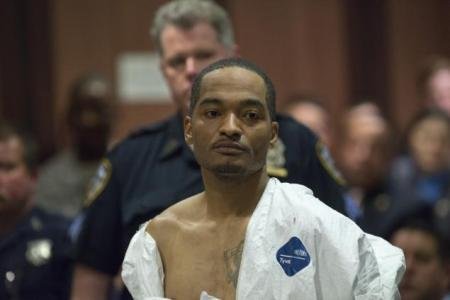 Demetrius Blackwell faces a mandatory sentence of life with no parole if he's convicted of the murder of NYPD Officer Brian Moore. (THEODORE PARISIENNE/FOR NEW YORK DAILY NEWS)