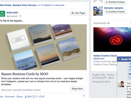 Your name may be appearing in Facebook ads (Photo: Facebook)