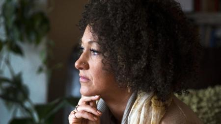 Rachel Dolezal, president of the Spokane chapter of the NAACP, is pictured at her home in the eastern Washington city. (Colin Mulvany / Spokesman-Review)