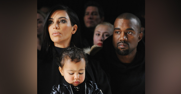 """Kim, Kanye, their daughter North and their upcoming baby boy are the epitome the """"designer baby"""" phenomenon. (Getty Images)"""