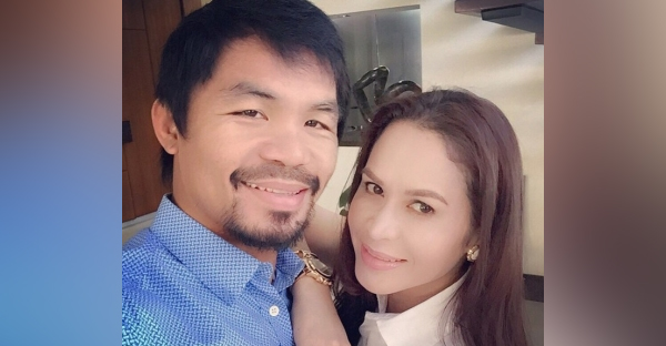 Manny Pacquiao and wife Jinkee in a picture the Christian boxing champion shared on his Instagram account. (Instagram/Manny Pacquiao)