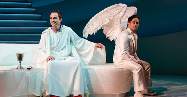 IRREVERENT SATIRE: Jim Parsons in An Act of God portrays the Almighty as a witty crank. (PHOTO BY JEREMY DANIEL)